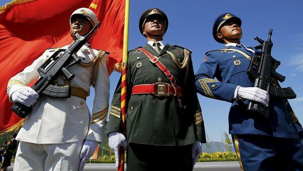 Zkouška vojenské přehlídky v Pekingu - Sputnik Česká republika