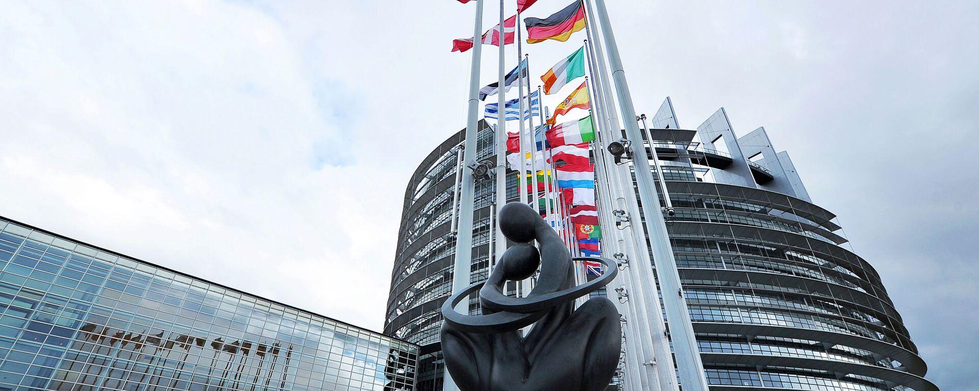 Socha Srdce Evropy u budovy Evropského parlamentu ve Štrasburku - Sputnik Česká republika, 1920, 29.04.2021