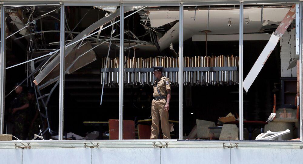 Policista v Kolombu. Ilustrační foto