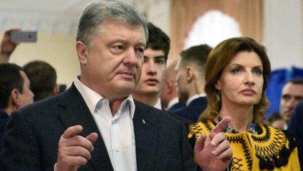 Petro Porošenko a jeho manželka Marina - Sputnik Česká republika