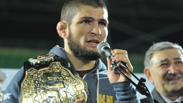 Khabib Nurmagomedov je současným šampionem lehkého UFC - Sputnik Česká republika