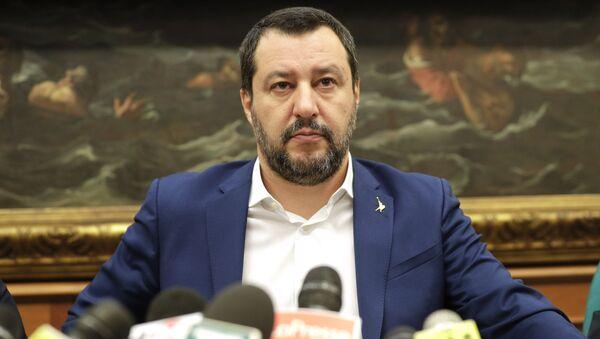 Italský premiér Matteo Salvini - Sputnik Česká republika