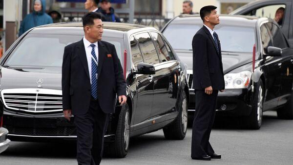 Severokorejský vůdce Kim Čong-un ve Vladivostoku - Sputnik Česká republika