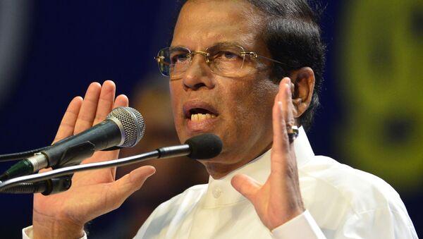 Srílanský prezident Maithripala Sirisena  - Sputnik Česká republika