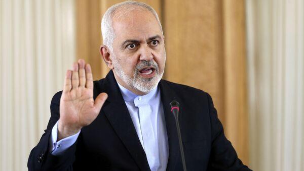 Íránský ministr zahraničí Mohamed Džavád Zaríf  - Sputnik Česká republika