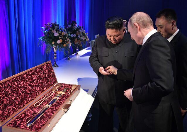 Kim Čong-un a Vladimir Putin