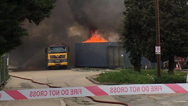 Požár v blízkosti letiště Heathrow - Sputnik Česká republika