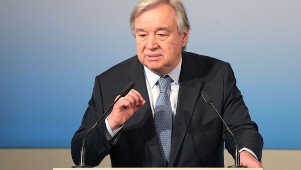 Generální tajemník OSN António Guterres  - Sputnik Česká republika