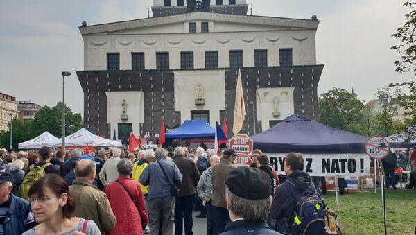 Komunistický mítink v Praze - Sputnik Česká republika