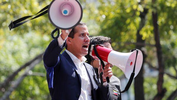 Vůdce venezuelské opozice Juan Guaidó  - Sputnik Česká republika