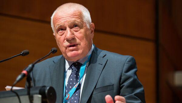 Bývalý český prezident Václav Klaus  - Sputnik Česká republika
