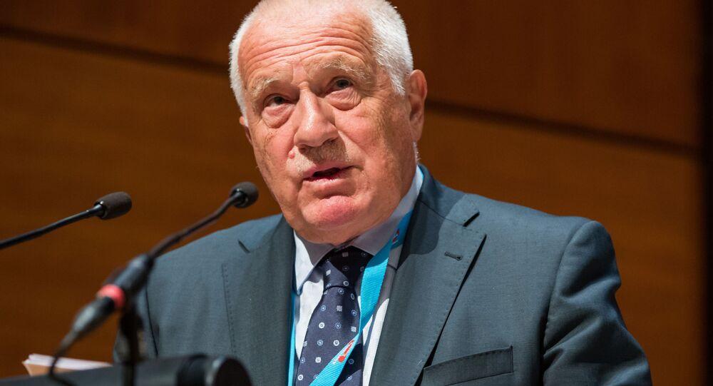 Bývalý český prezident Václav Klaus