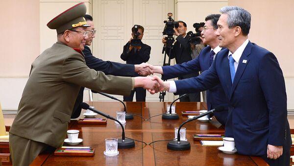KLDR a Jižní Korea se domluvily o urovnání pohraniční krize - Sputnik Česká republika
