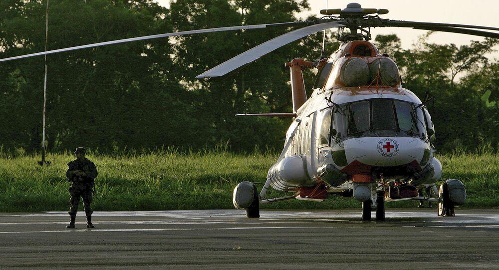 Vrtulník venezuelských záchranářů Mi-172
