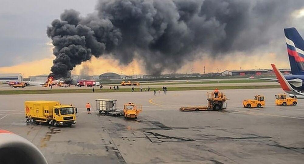 Požár v Šeremetěvě