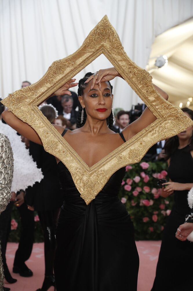 Herečka Tracy Ellis Ross na Met Gala 2019 v New Yorku
