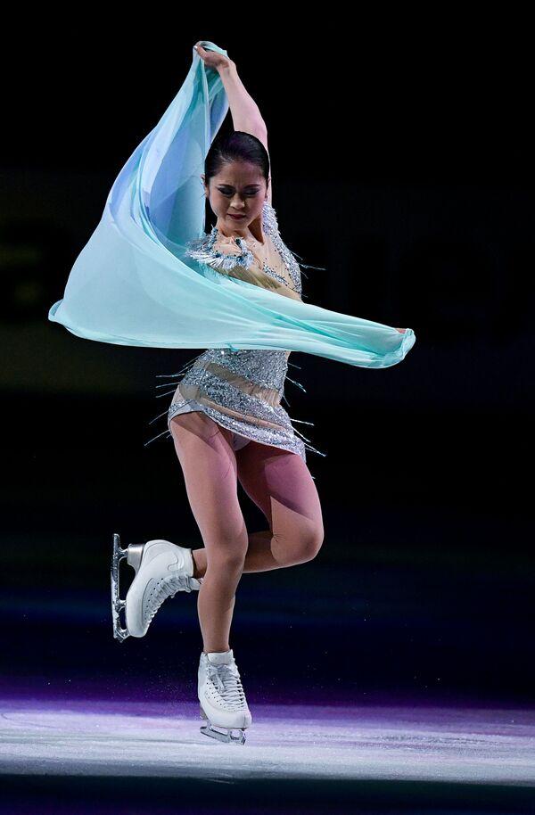 Japonská krasobruslařka Satoko Miyahara na mistrovství světa v krasobruslení v Saitamě, Japonsko - Sputnik Česká republika