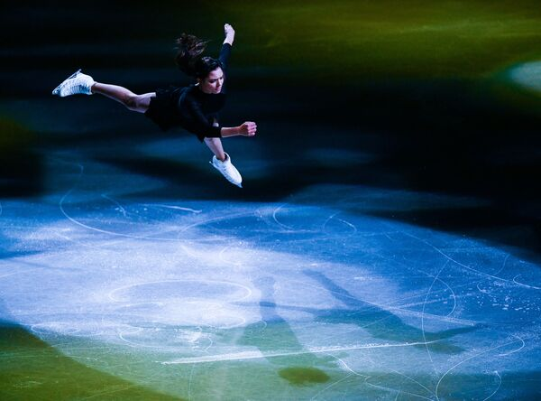 Ruská krasobruslařka Evgenija Medveděvová na Mistrovství světa v krasobruslení v Saitamě, Japonsko - Sputnik Česká republika