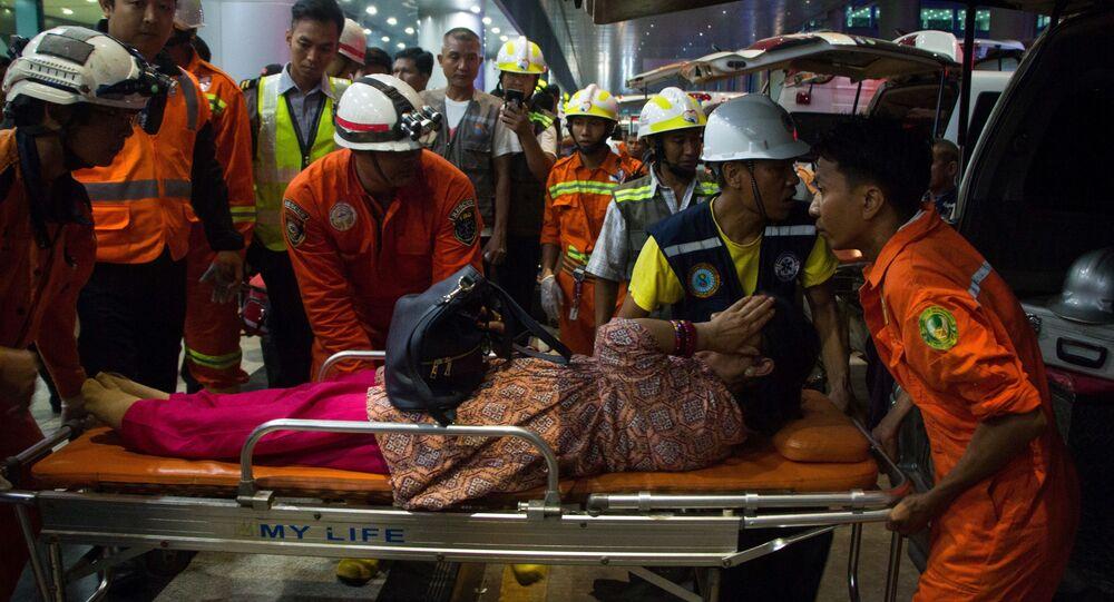 Letadlo společnosti Biman havarovalo na letišti v Myanmaru