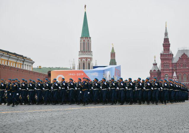 Přehlídka vítězství na Rudém náměstí v Moskvě