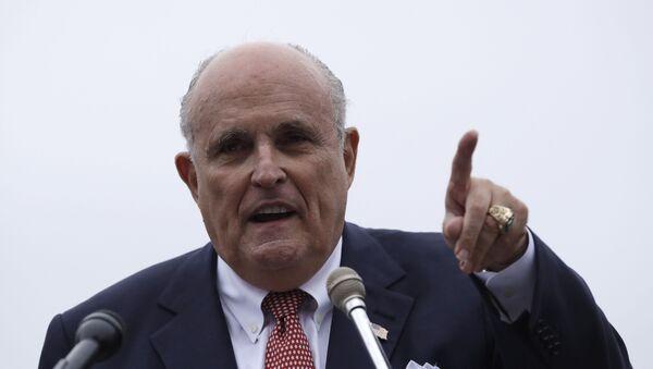 Advokát prezidenta USA Donalda Trumpa Rudy Giuliani  - Sputnik Česká republika