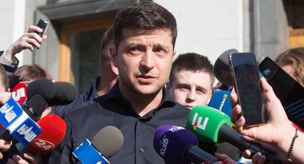 Ukrajinský prezident Volodymyr Zelenský