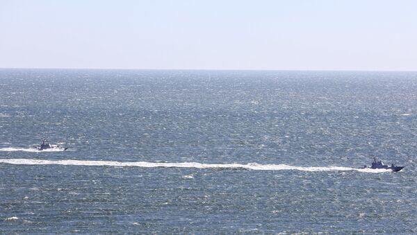 Ukrajinská armáda zveřejnila video cvičení z chycení lodí na moři  - Sputnik Česká republika