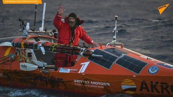 Koňuchov přeplul Tichý oceán za 154 dní a vytvořil několik světových rekordů - Sputnik Česká republika