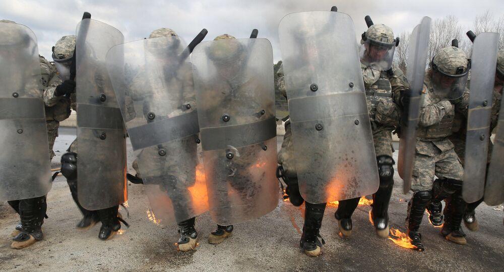 Cvičení vojenské mise NATO v Kosovu
