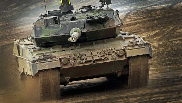Německý tank Leopard-2-Panzer - Sputnik Česká republika