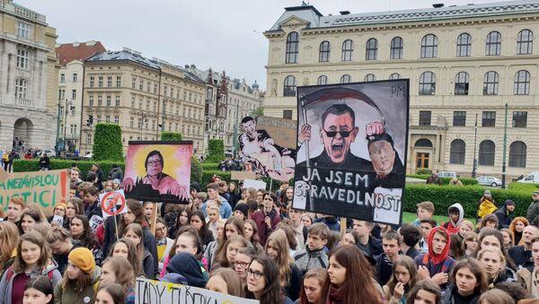 Demonstrace proti Benešové a Babišovi - Sputnik Česká republika