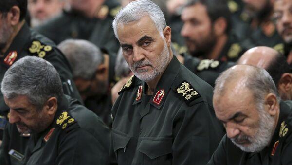 Velitel elitních íránských jednotek Quds Kásim Sulejmaní - Sputnik Česká republika