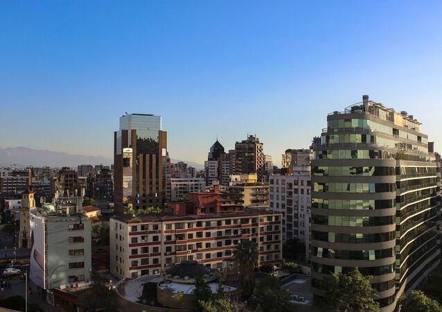 Pohled na město Santiago de Chile