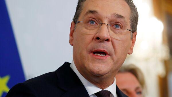 Bývalý rakouský vicekancléř Heinz-Christian Strache - Sputnik Česká republika