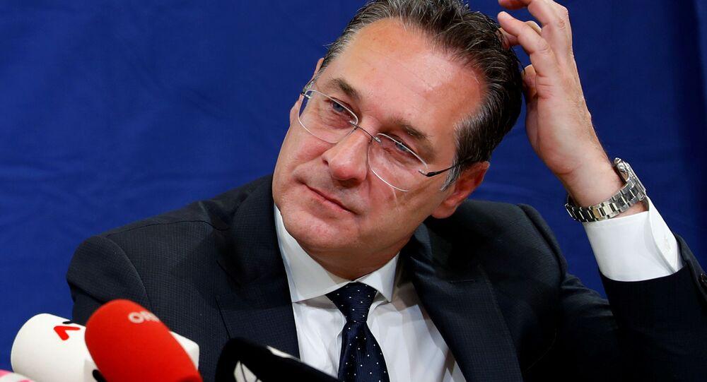 Rakouský vicekancléř Heinz-Christian Strache