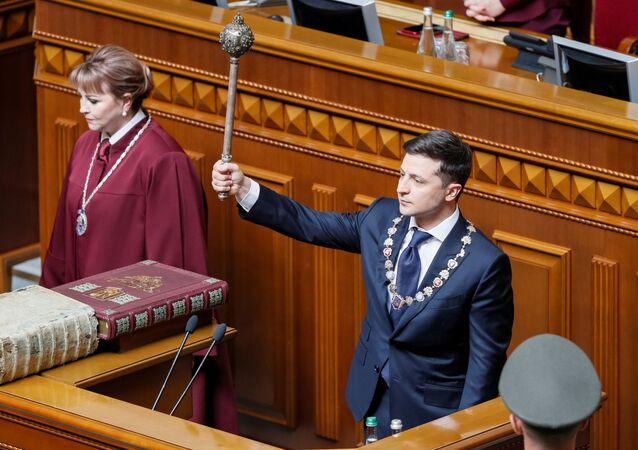 Inaugurace nového ukrajinského prezidenta Volodymyra Zelenského.