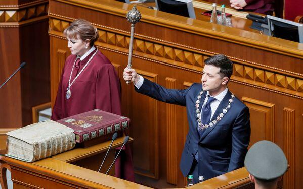 Inaugurace nového ukrajinského prezidenta Volodymyra Zelenského. - Sputnik Česká republika