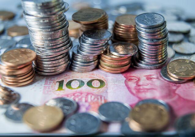 Čínské bankovky a mince
