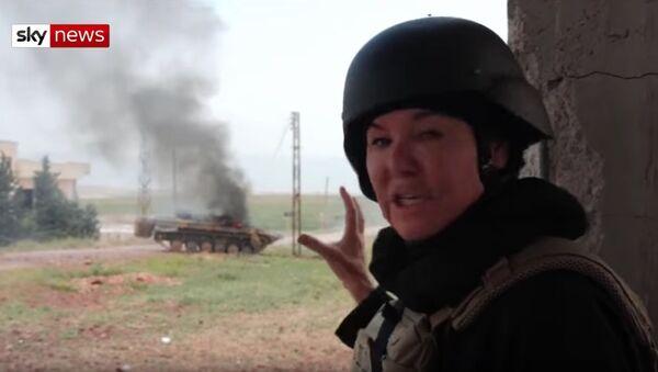 Na americkou novinářku v Sýrii stříleli z tanku - Sputnik Česká republika