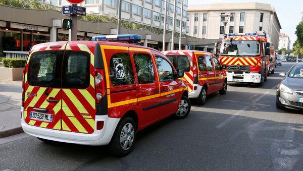 Policie a záchranáři na místě výbuchu v Lyonu - Sputnik Česká republika