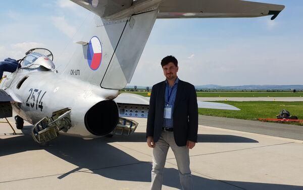 MiG-15 vyrobený v ČSSR na Dni otevřených dveří na letišti v Čáslavi - Sputnik Česká republika