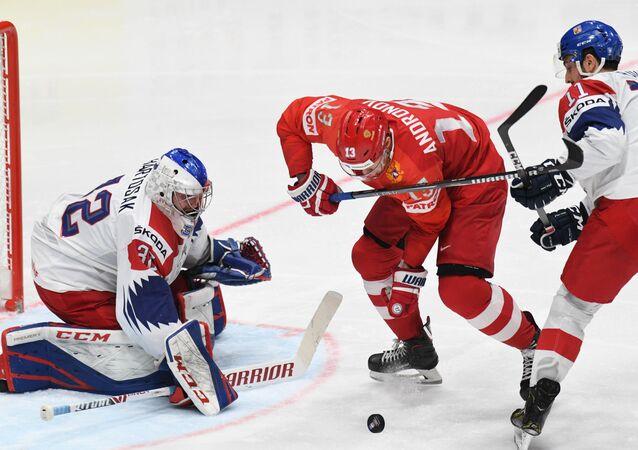 Zápas Rusko – Česko v základní skupině MS 2019